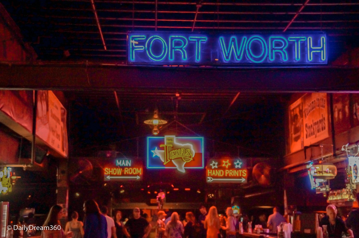 Inside Billy Bob's Honky Tonk bar Fort Worth