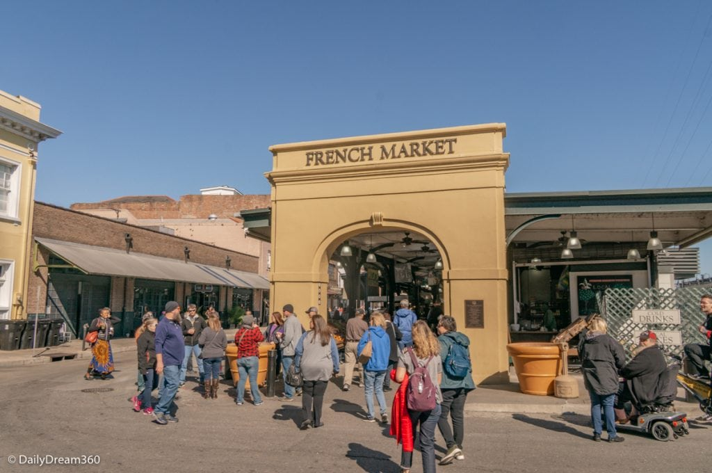 Entrance into one of the pavilions of the French Market New Orleans