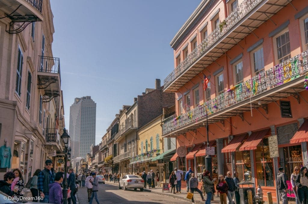 French Quarter street in New Orleans