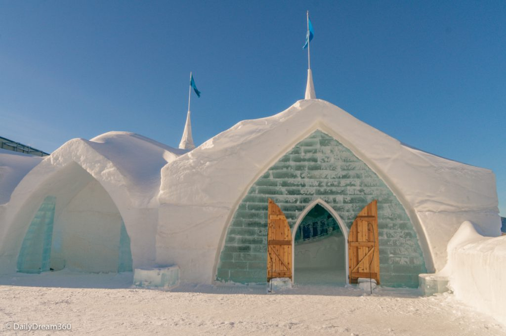 Entrance to Quebec City Ice Hotel