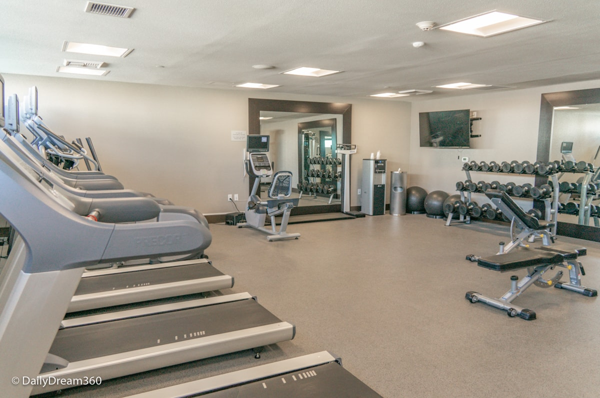 Fitness room at the Inn at the Pier Pismo Beach