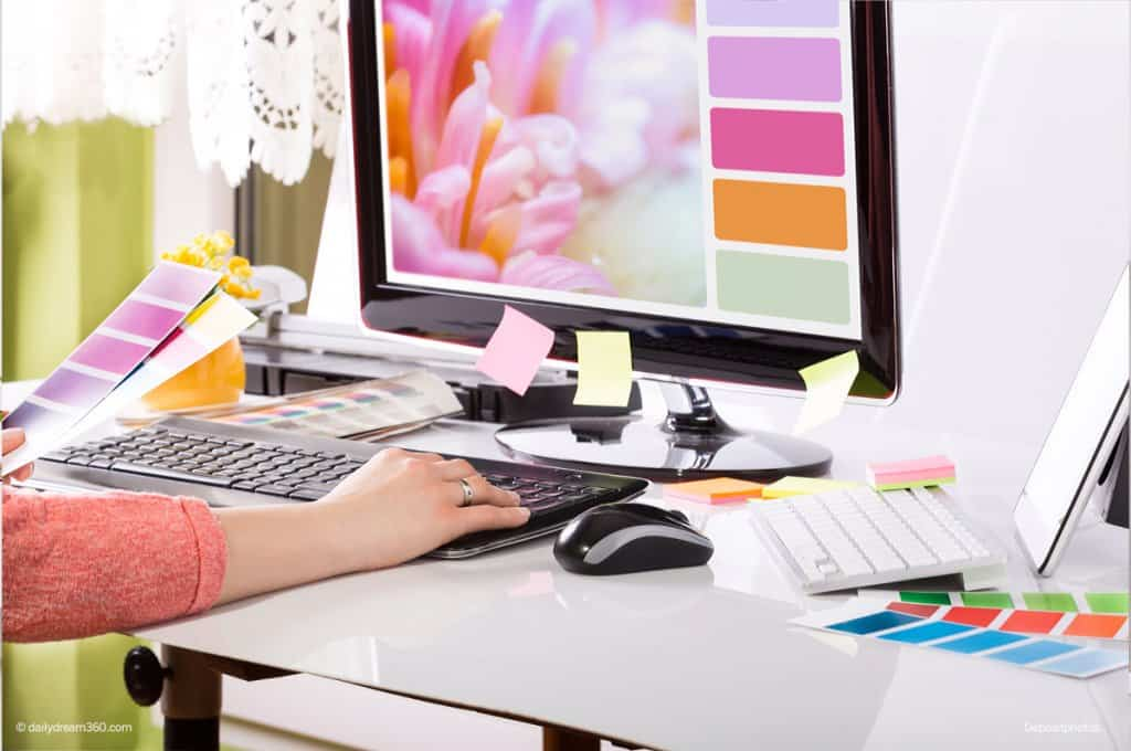 Graphic Designer office desk