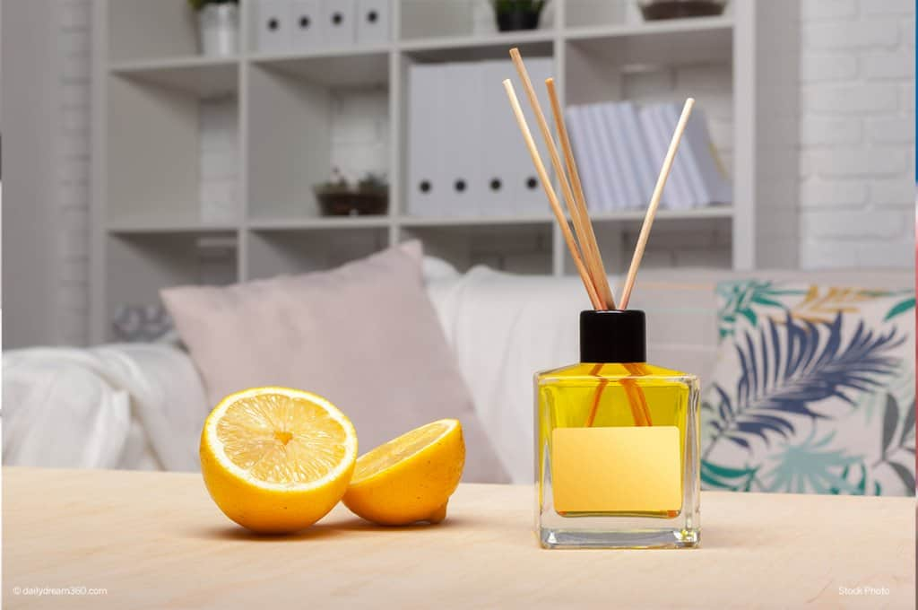 scented diffuser in living room