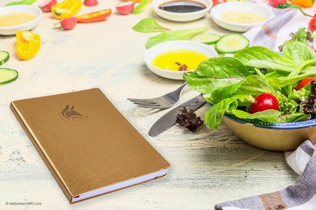 Clever fox planner with salad