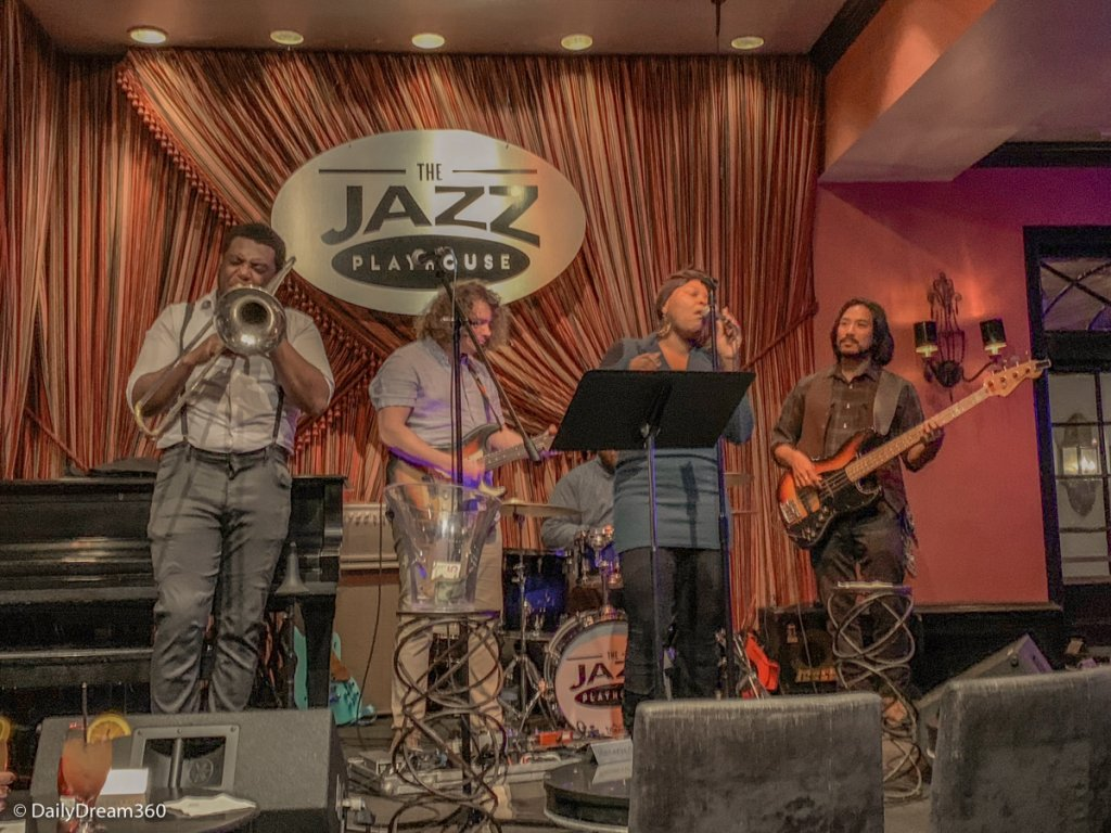 Singers on stage at Jazz Playhouse New Orleans.
