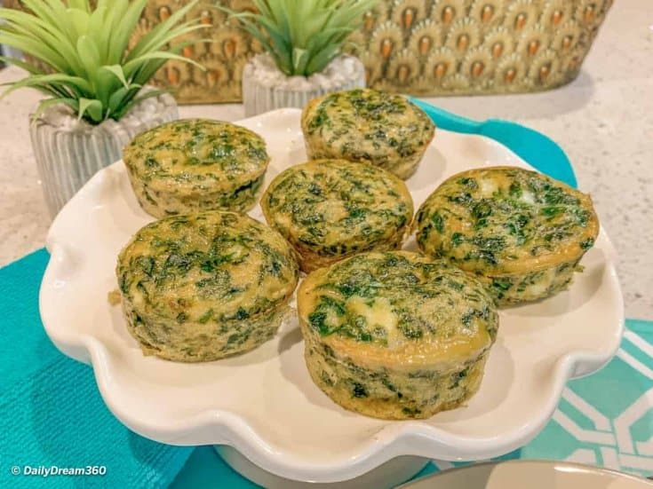 Low Carb Dairy Free Spinach Sous Vide Egg Bites