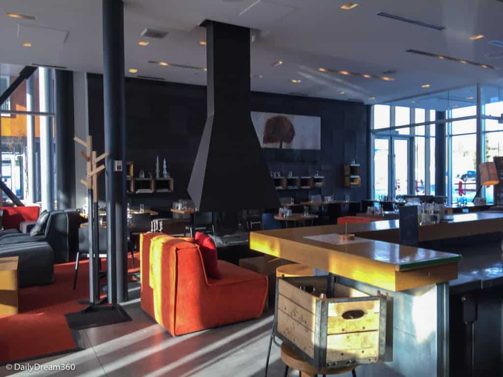 Pizza oven and Lounge area at Germain Charlevoix