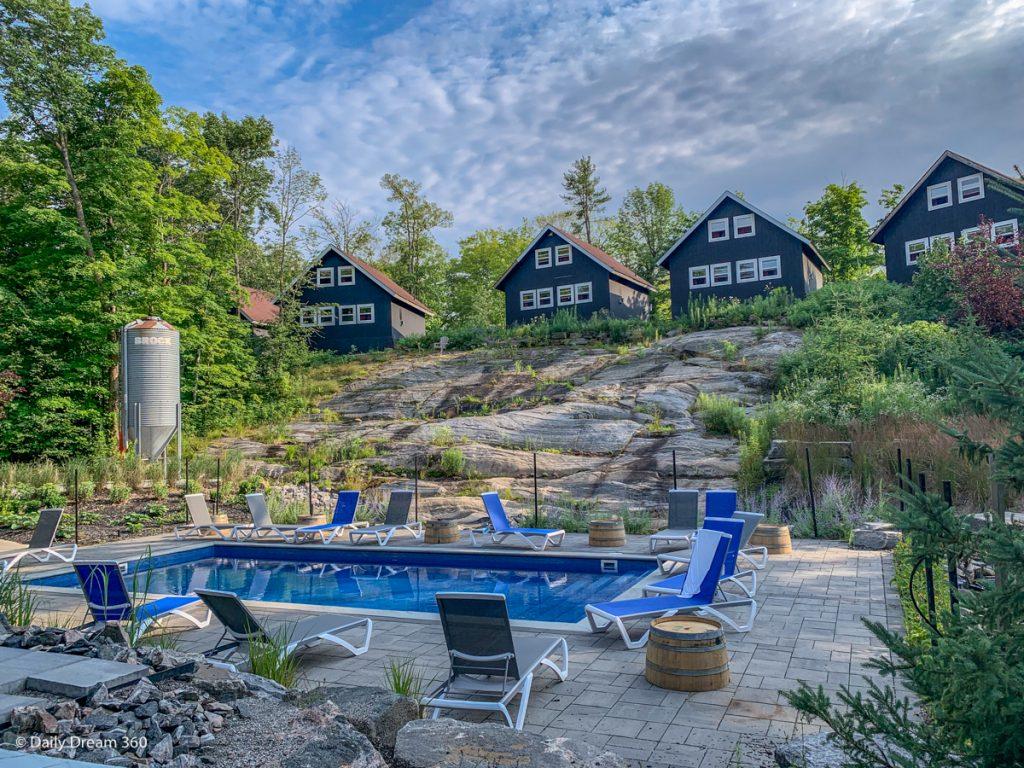 Pool in Scandinavian Spa at Muskoka Beer Spa Ontario