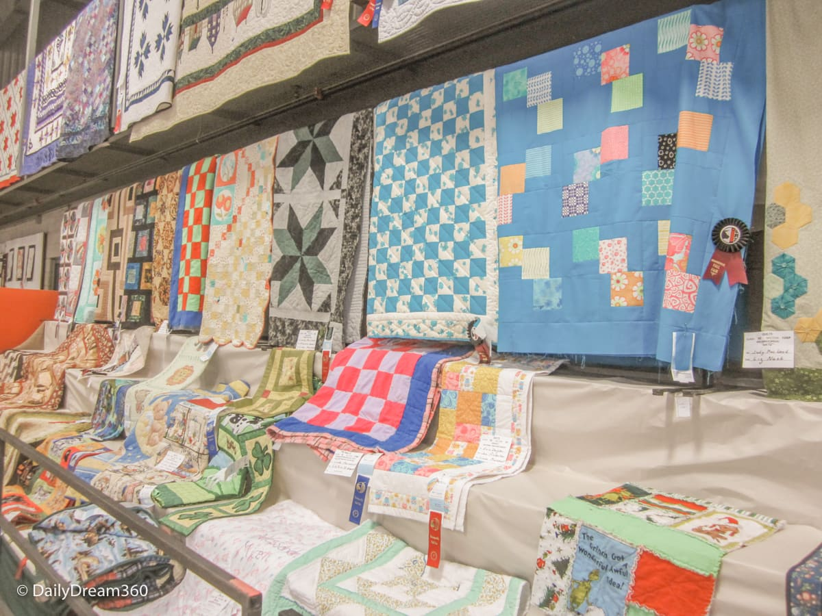 Quilt competition at Orangeville Fall Fair
