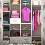 7-Day Declutter Challenge: Day 2 Decluttering and Organizing Closets