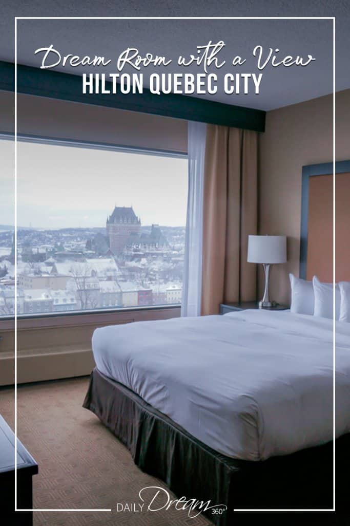 King room overlooking Quebec City at Hilton Quebec City Hotel