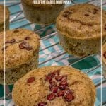 Hold the Carbs Low Carb Sugar Free Chocolate Chip Muffins sitting on cooling rack