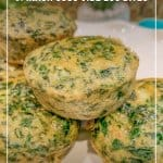 Low Carb Dairy Free Sous Vide Spinach Egg Bites