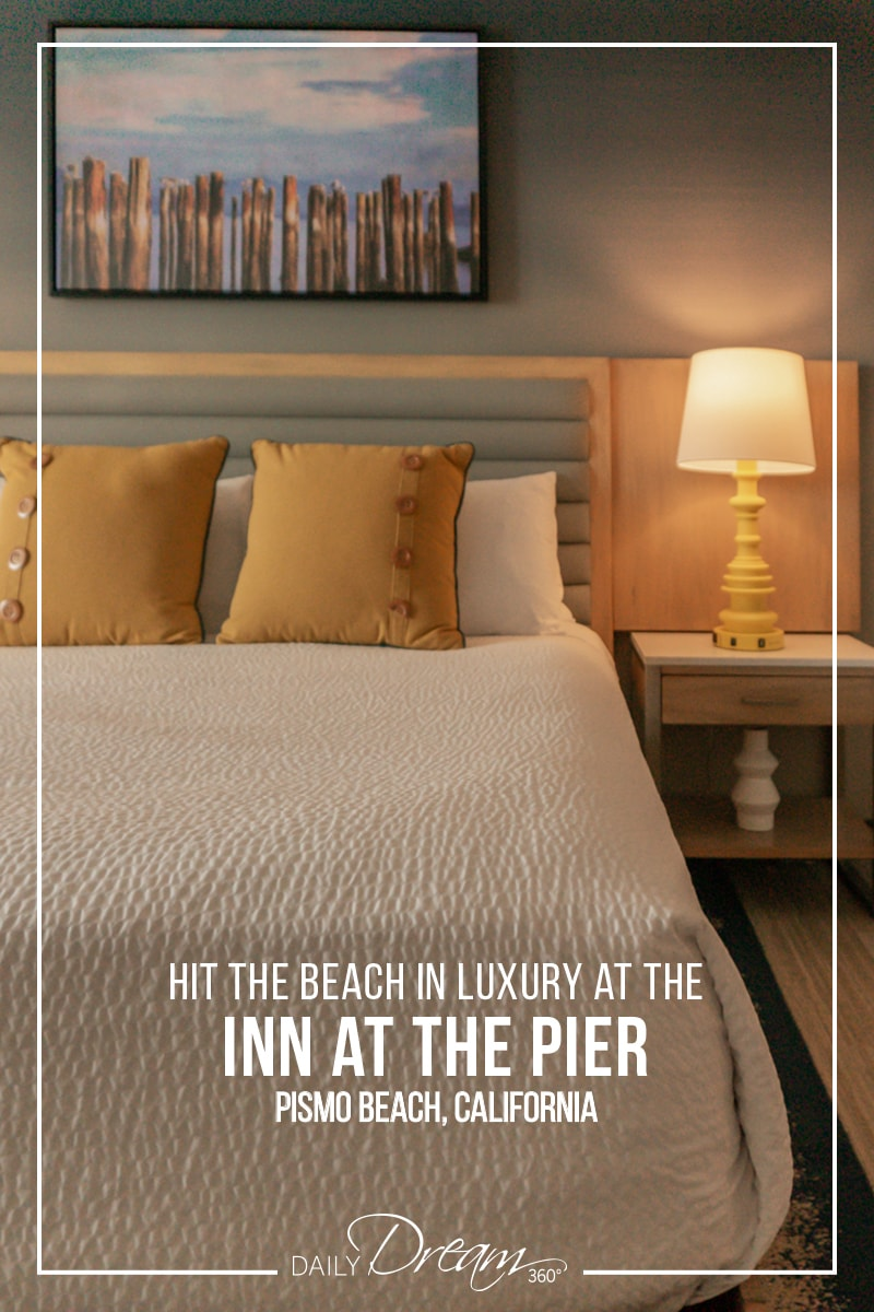 Brightly lit room at the Inn at the Pier Pismo Beach
