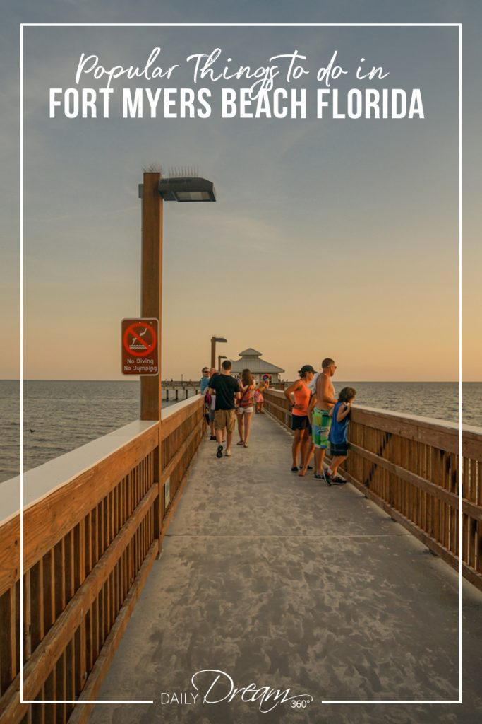 People on pier at Fort Myers Beach