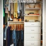 Organized closet 7-Day Declutter Challenge: Day 2 Decluttering and Organizing Closets