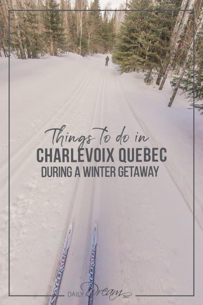 Cross country skiing in Charlevoix Quebec