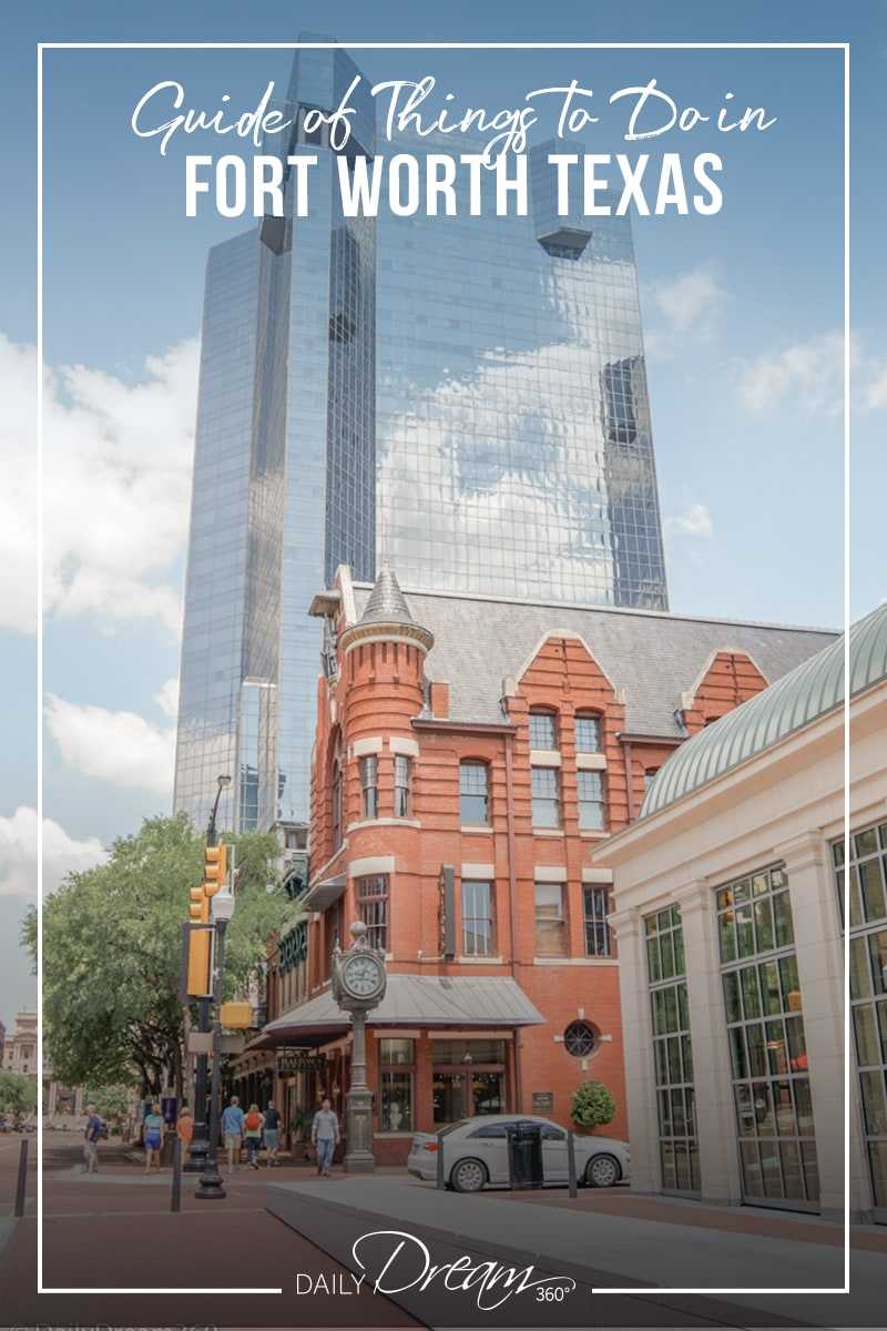 Old and New buildings in downtown Fort Worth Texas