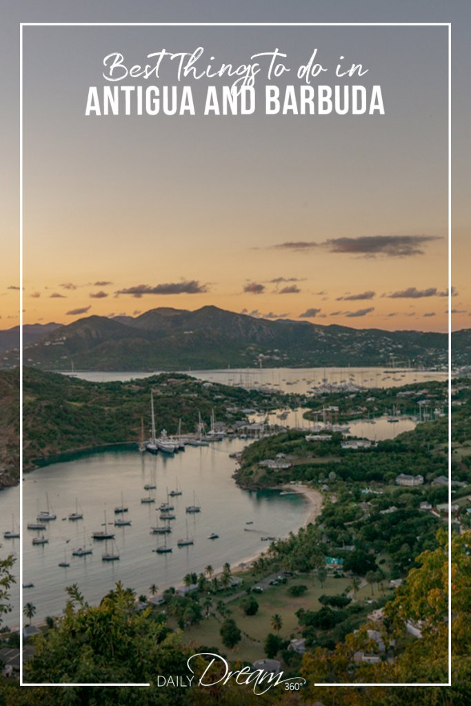 Sunset overlooking English Harbour from Shirley Heights