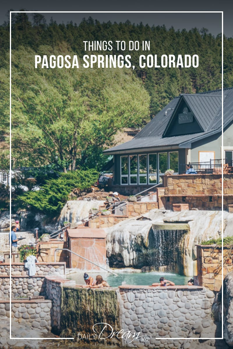 People in hot spring pool in Pagosa Springs Colorado