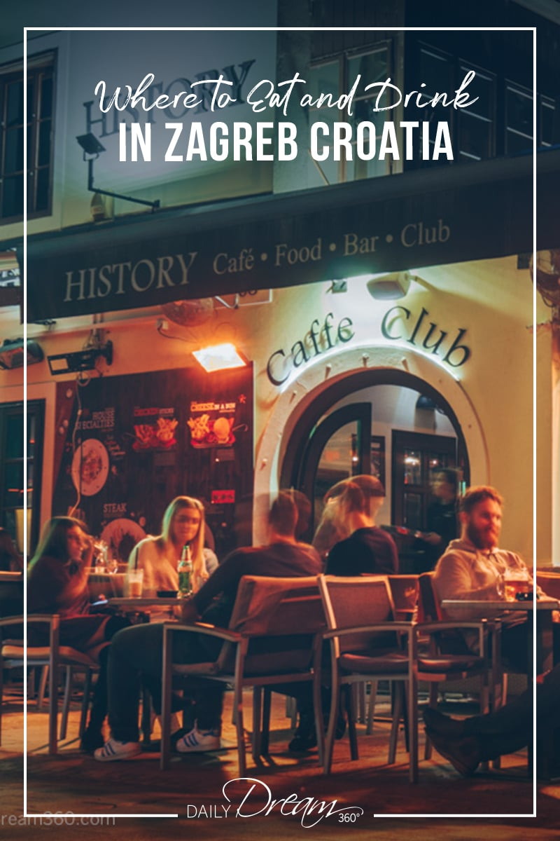 Plenty of cafes and clubs for drinks in Zagreb Croatia