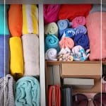 Organized bedroom drawer with text 7-Day Declutter Challenge: Day 3 How to Declutter Bedrooms