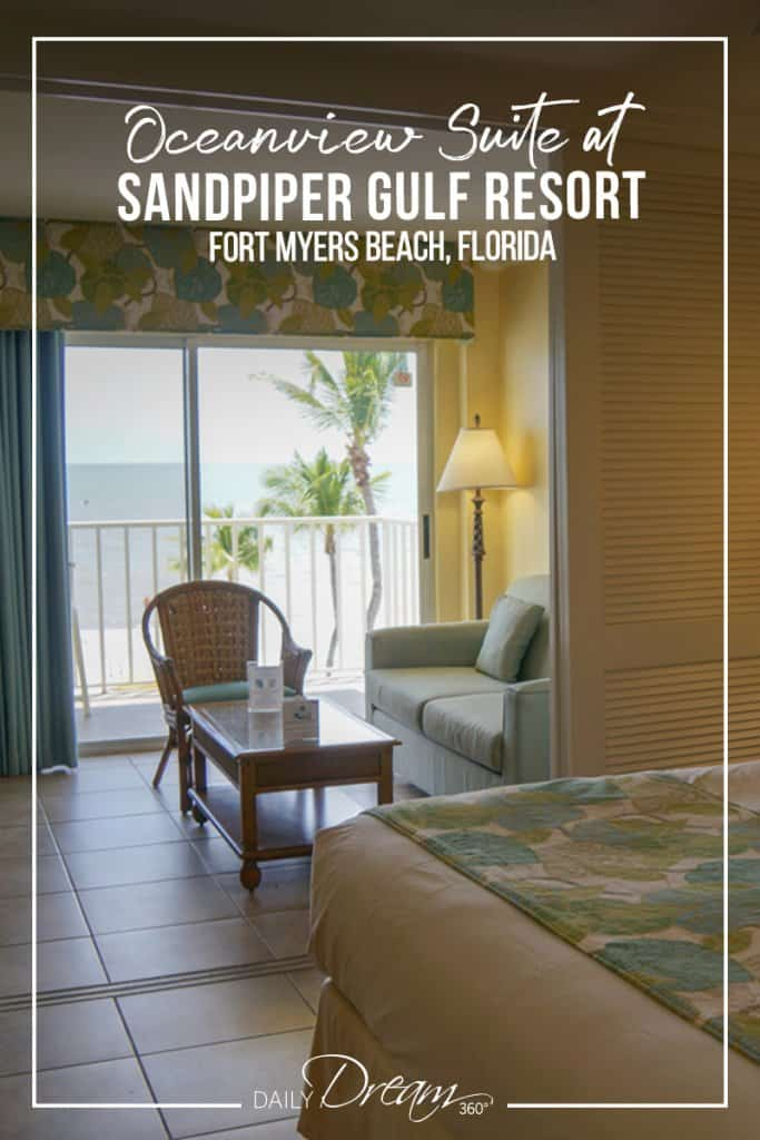 View to the beach from inside Oceanview suite at Sandpiper Resort Fort Myers Beach Florida