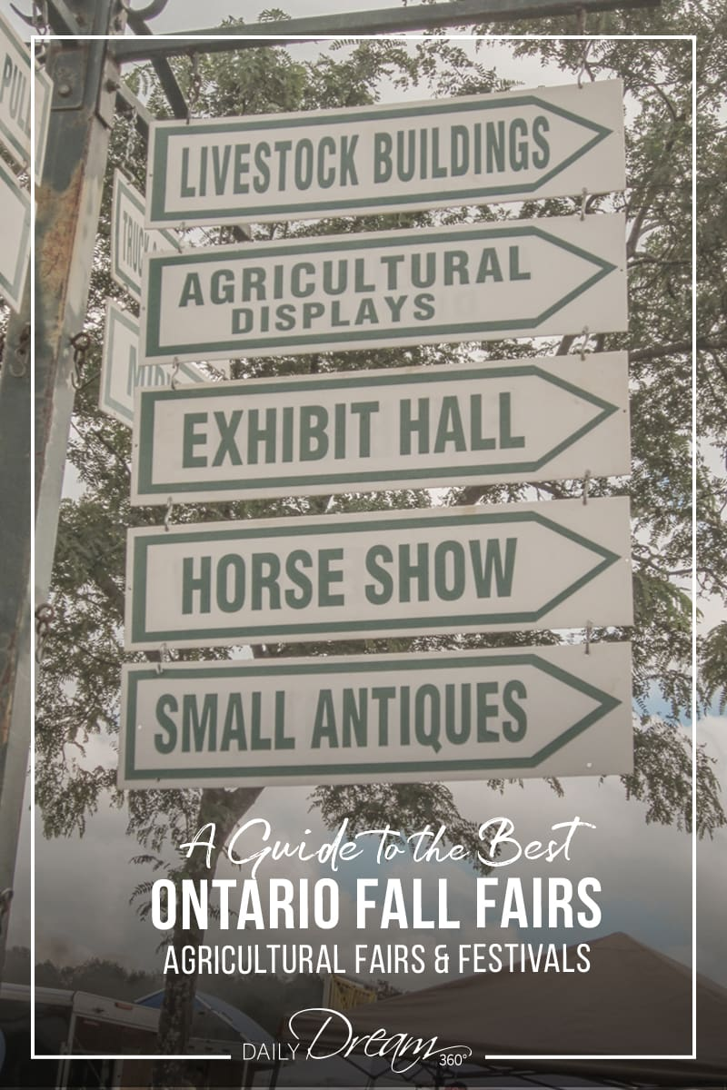 Signs to many exhibits at Orangeville Fall Fair