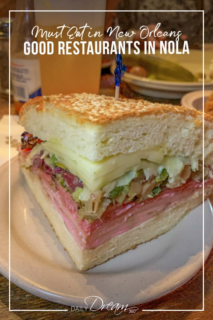 Famous Muffuletta Sandwich at Napoleon House New Orleans