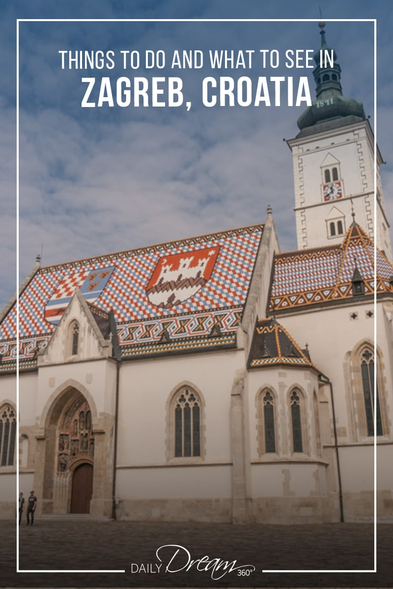 Famous St. Mark's Church in upper town of Zagreb Croatia