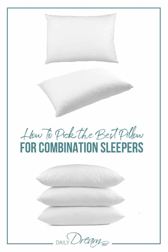Pillows falling into a pile How to Pick the Best Pillow for Combination Sleepers