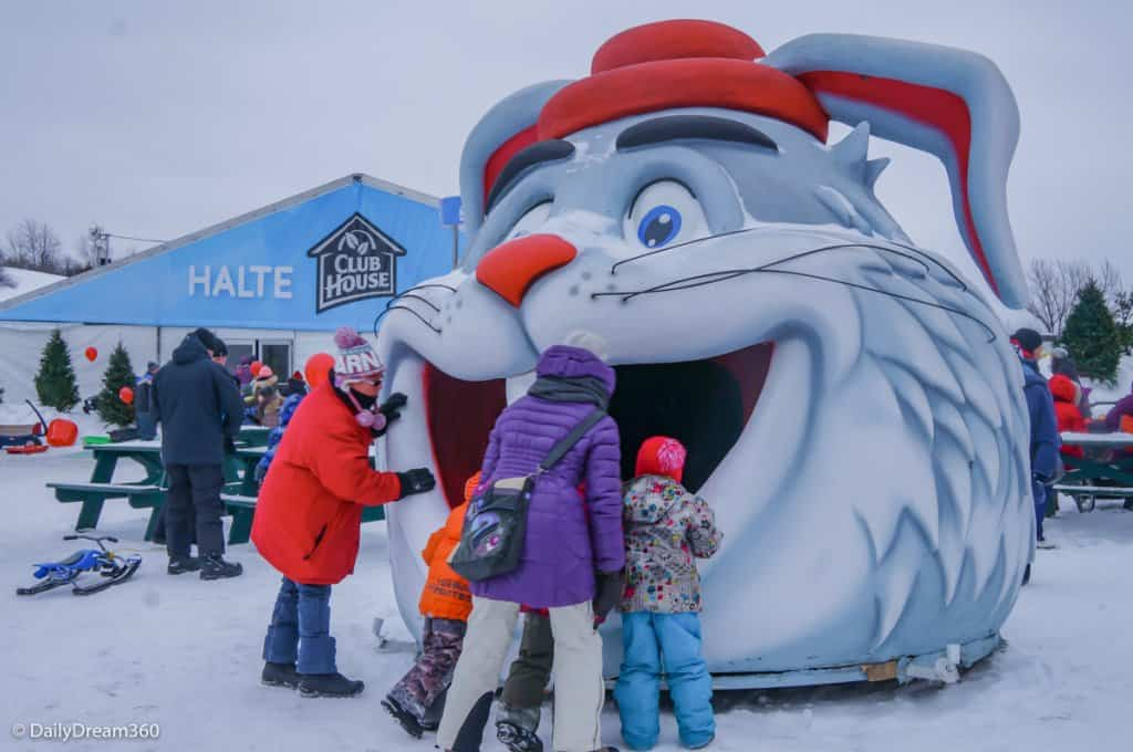 Kids play during Quebec Winter Carnival