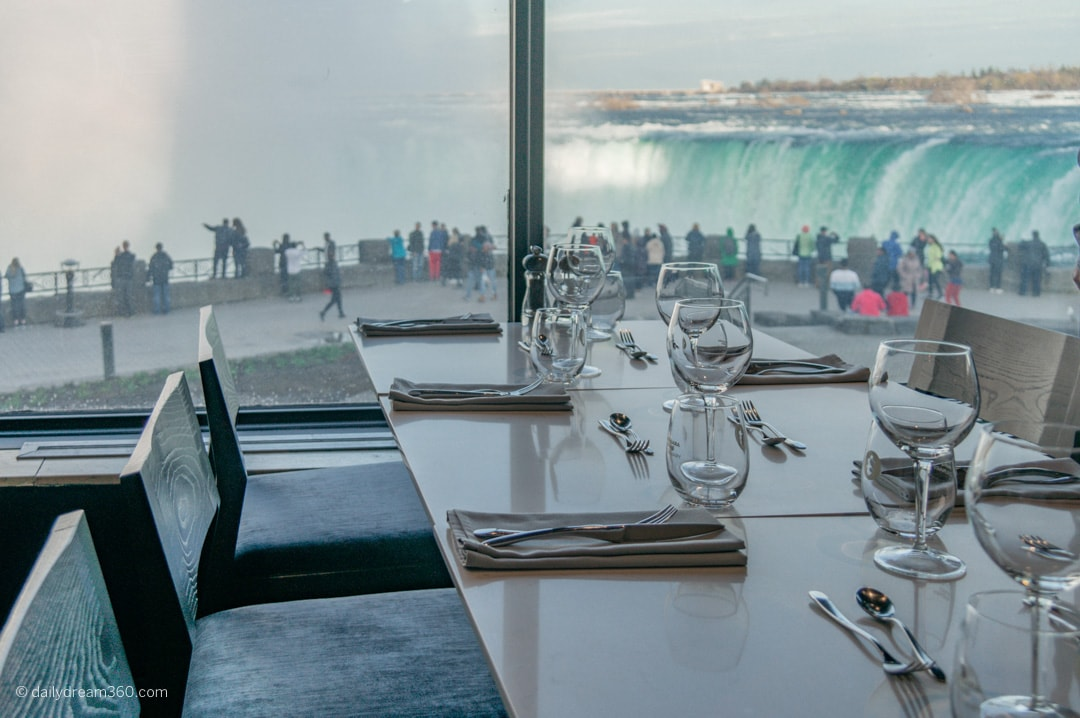 Table overlooking the falls Table Rock Restaurant Niagara Falls ON
