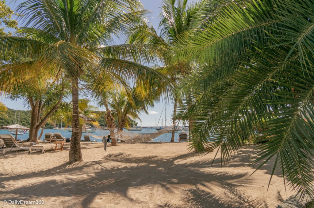 Hammock on beach at English Harbour Inn Antigua