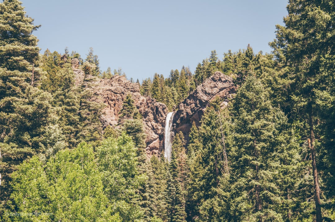 Treasure Falls waterfall near Pagosa Springs Colorado