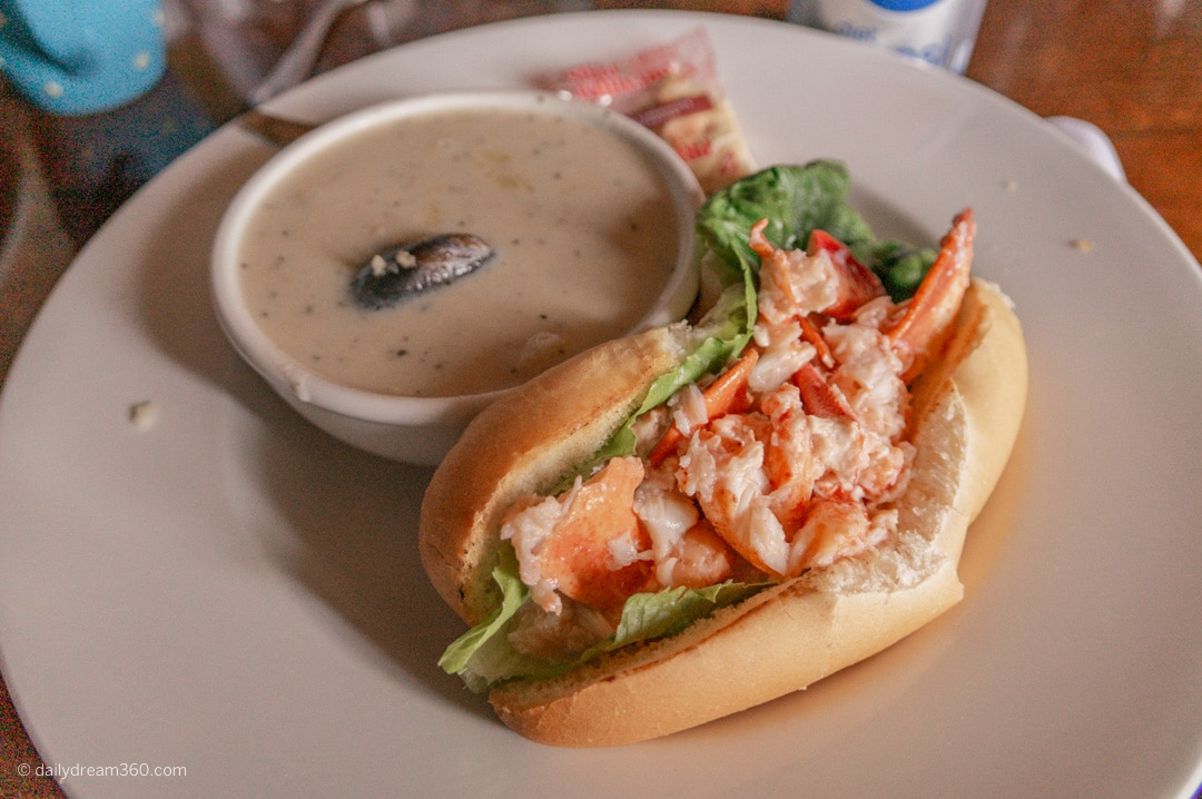 Lobster Roll lunch in Victoria By the Sea PEI