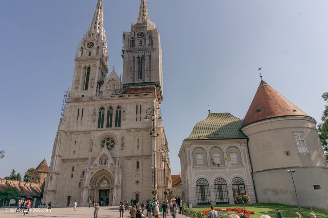 Zagreb Cathedral view from square